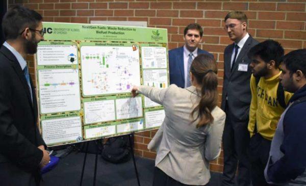 Senior design team presents their Biofuel poster