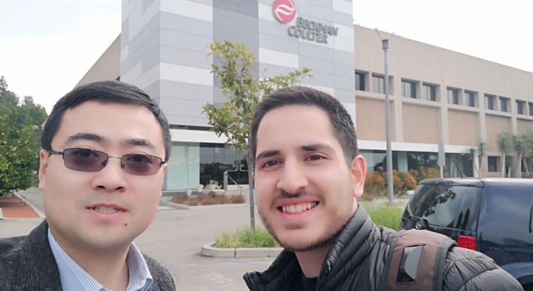 Ahmadian Yazdi and Mechanical and Industrial Engineering Assistant Professor Jie Xu