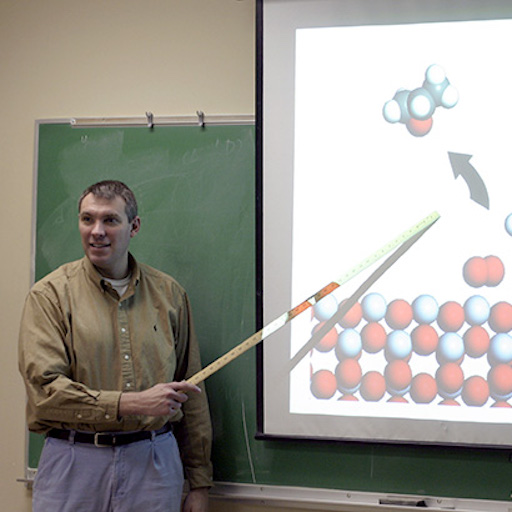 chemical engineering professor in the classroom