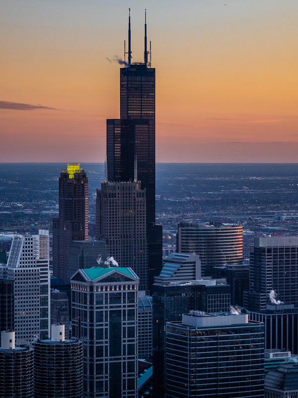 Sears Tower and Chicago downtown