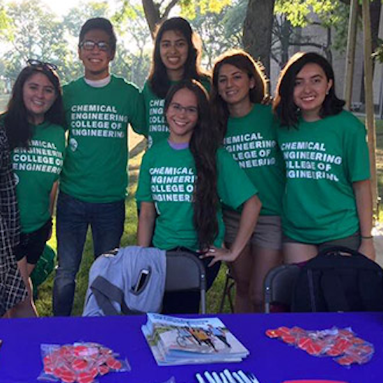 ChemE students at welcome day