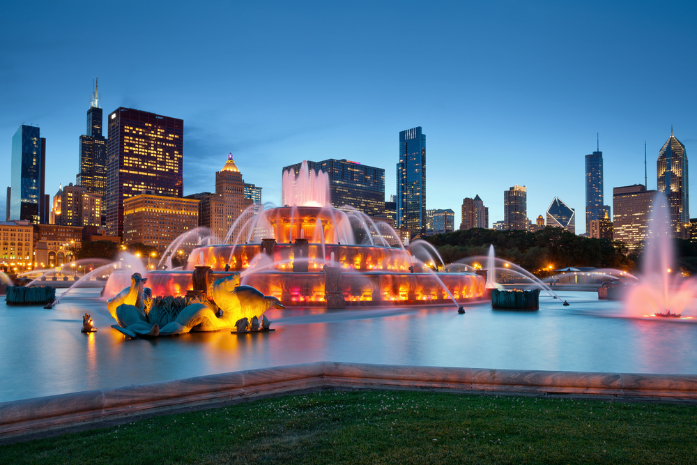 Grant Park and Buckingham Fountain, Chicago